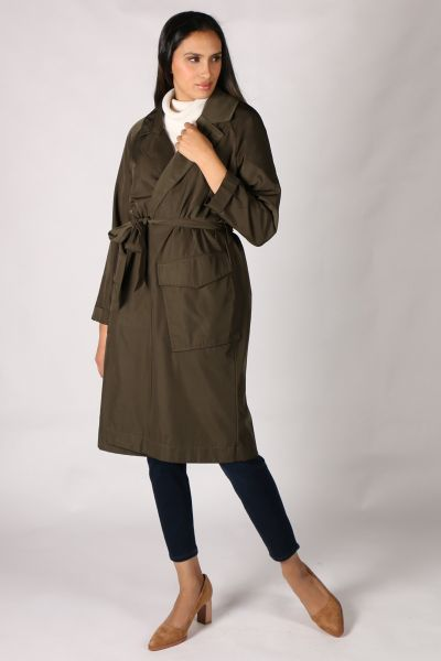 Foil Olive  Crunch Time Trench