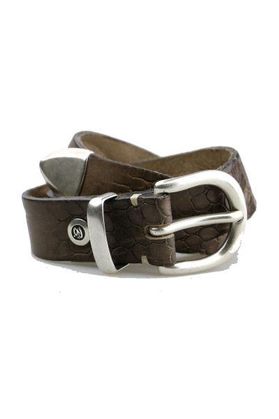 Croc Belt By B.Belt In Steel