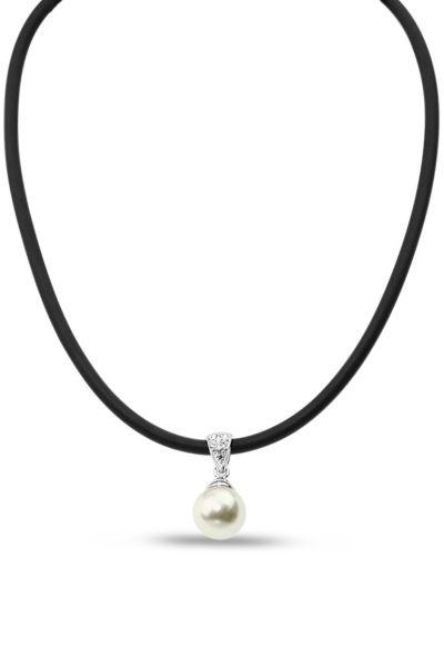 Jantan Pearl Pendant Necklace In Cream