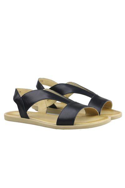 Sempre Di V Front Sandal In Black