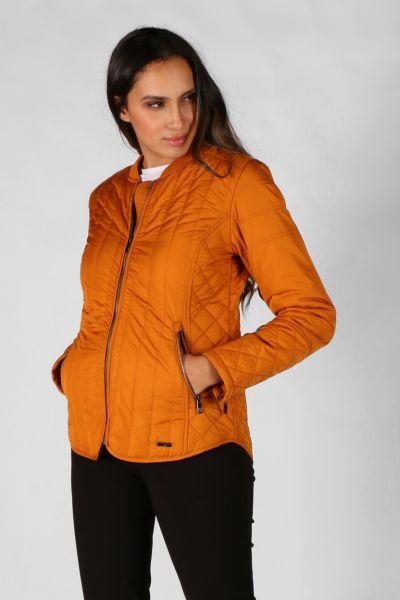 Ilse Jacobsen Padded Quilt Jacket In Ochre