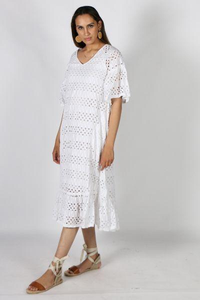 White Rubyyaya Calcutta Maxi Dress