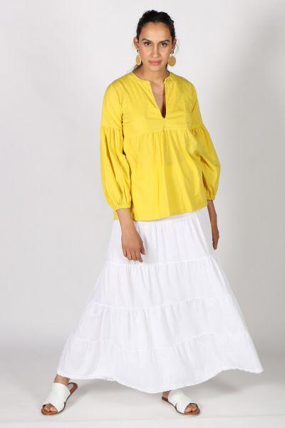 Talia Benson Nehru Top In Yellow