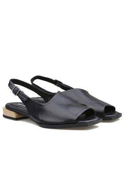 Yuko Square Toe Sandal In Black