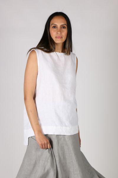 Luca Vanucci Linen Top In White