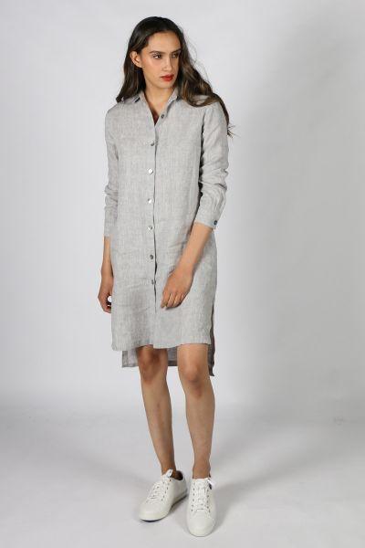 Eccentrica Swing Linen Jacket in Grey