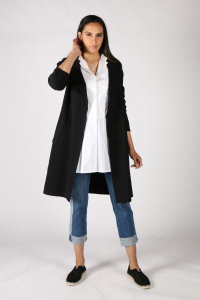 Lounge Apex Coat In Black