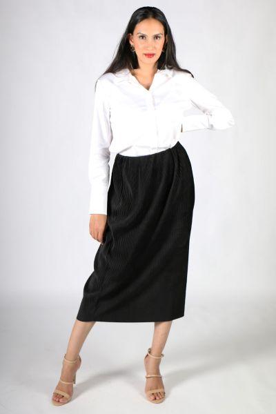 Chalice Ribbed Velvet Skirt In Black