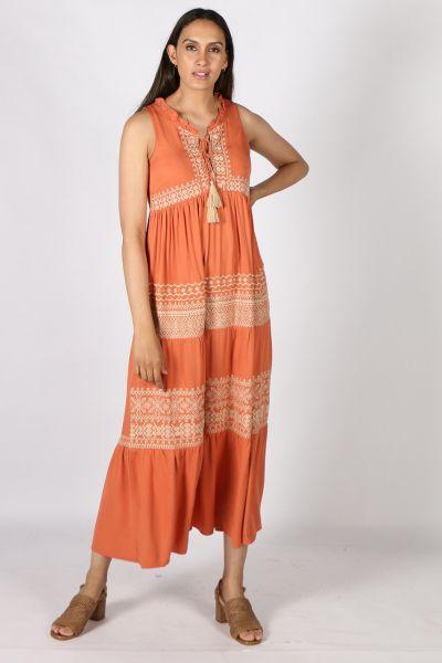 Humidity Spirit Dress In Amber