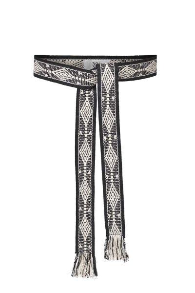 Woven Jacquard Belt By Noa Noa In Black
