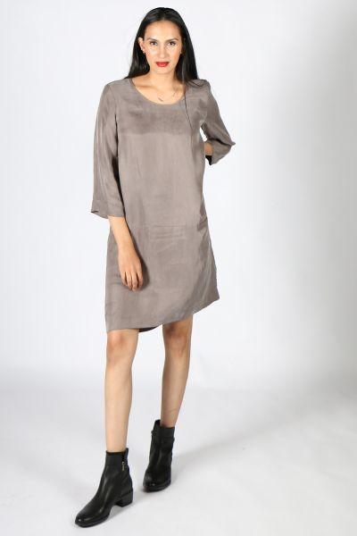 Lounge Lachlan Dress In Mushroom