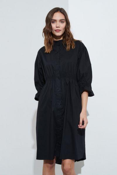 Tirelli Shirring Dress In Black