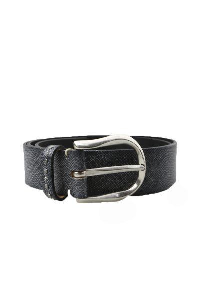 Sparkle Leather Belt By B.Belt In Black