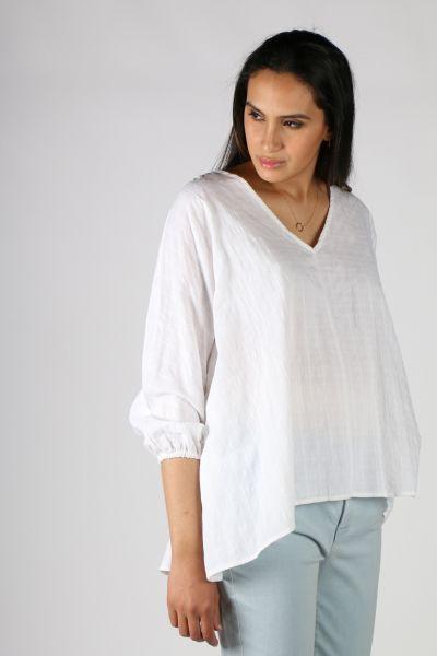 Conchita Diamond Weave Top in White