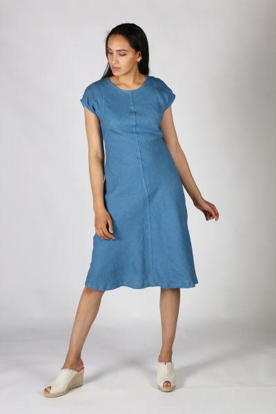 Haris Cotton Flare Dress In Denim
