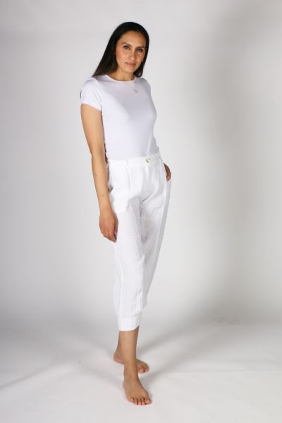 Luca Vanucci Panelled Pant In White