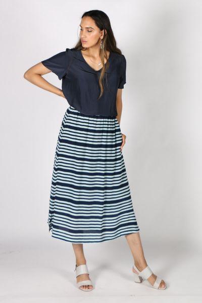 Printed Rasa Nisha Candy Skirt In Stripe
