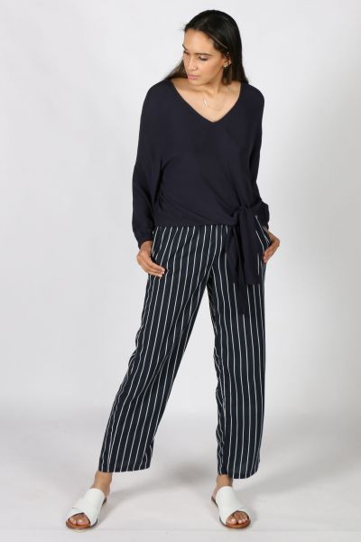 Navy Stripe Pant By Jump