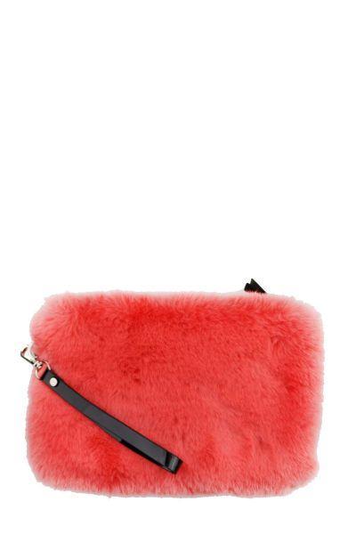 365 Days Faux Fur Clutch Bag In Coral