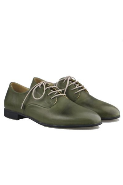 Lace Up Brogue By Sempre Di In Green