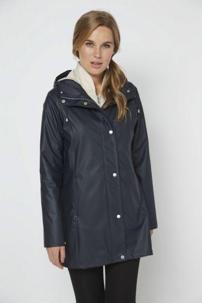 Ilse Jacobsen Hooded Raincoat In Ink