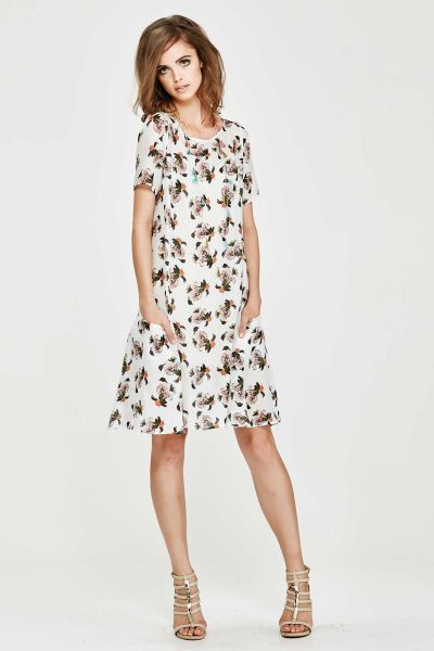 Trelise Cooper Swirles Aloud Dress In Print