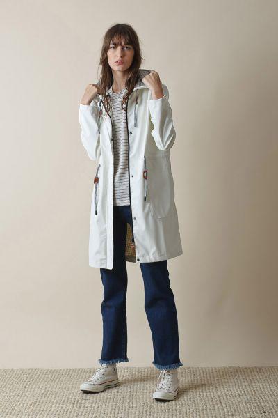 Indi & Cold Waterproof Raincoat In Cream
