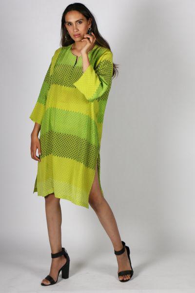 Printed Rasa Manu Vienna Dress In Green