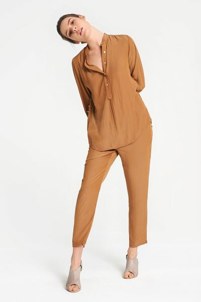 Layerd Blas Shirt In Camel