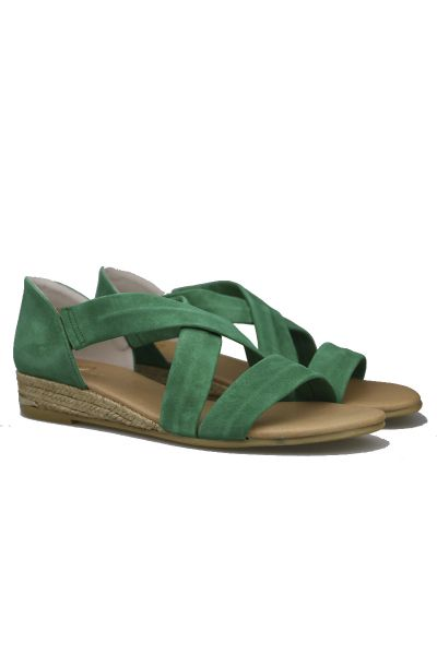 Claire Espadrille By Pinaz In Emerald
