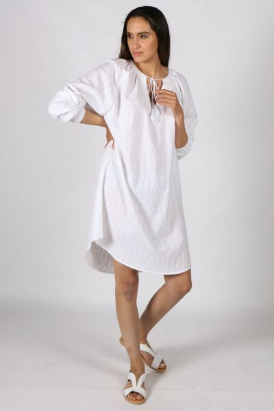 Conchita Diamond Weave dress in White