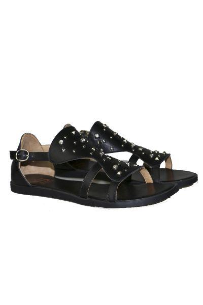 Sempre Di Star Studded Sandal In Black