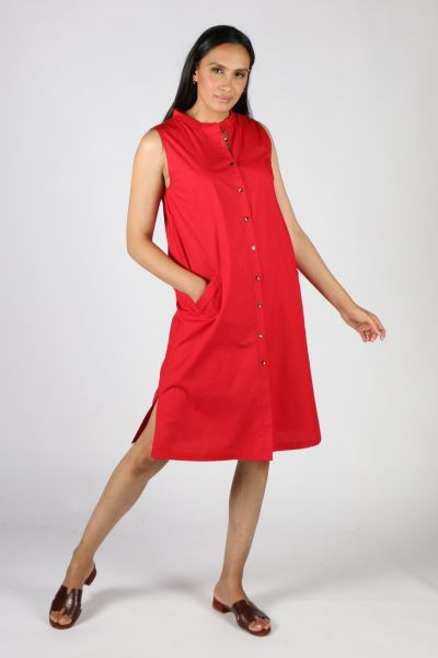 Bagruu Baku Dress In Chilli