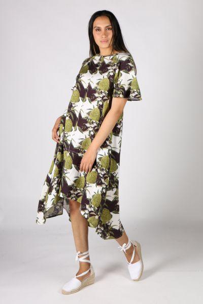 Frankie + Dash Cave Dress In Pinapple Print