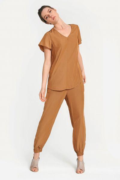 Layerd Samle Pant In Camel