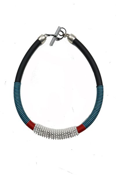 Beaded Cord Necklace By Christina Brampti In White
