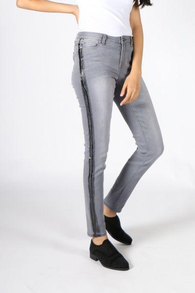 Pako Litto Stripe Jean In Grey