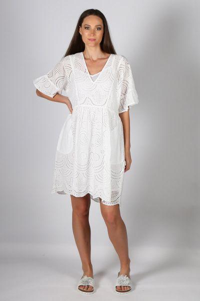 Mandalay Island Dress in White