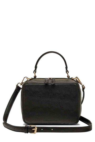Cameron Lizard Bag By Louenhide In Black