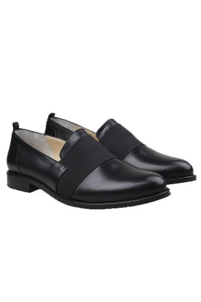 Piazza Grande Elastic Trim Loafers In Black