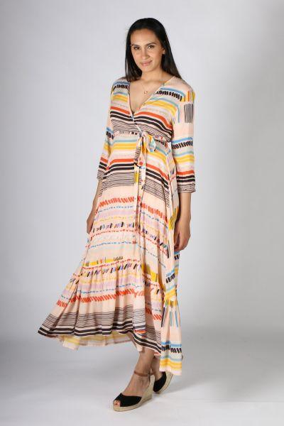 Rubyyaya Kabul Maxi Dress In Print