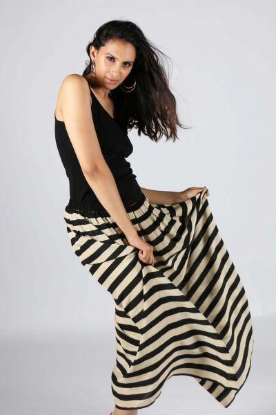 Black Silk Gajari Skirt By Anupamaa