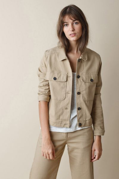 Indi & Cold Cropped Jacket in Camel