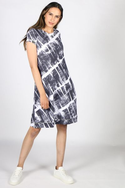 Foil Loop Of The Day Dress In Navy