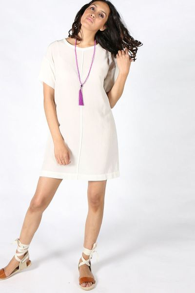 T-Shirt Dress By Ottod'Ame In Cream