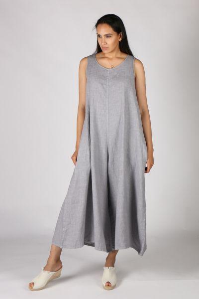 Haris Cotton Jumpsuit In Grey