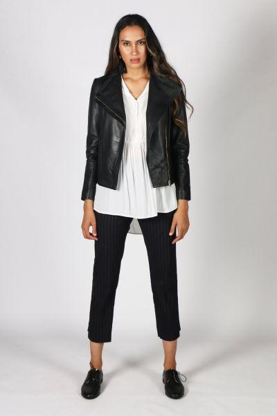 Jump Zip Front Jacket In Black