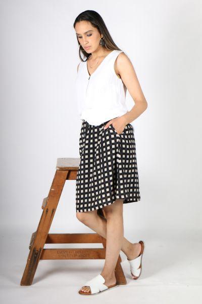 Printed Rasa Nisha Chatt Skirt In Black