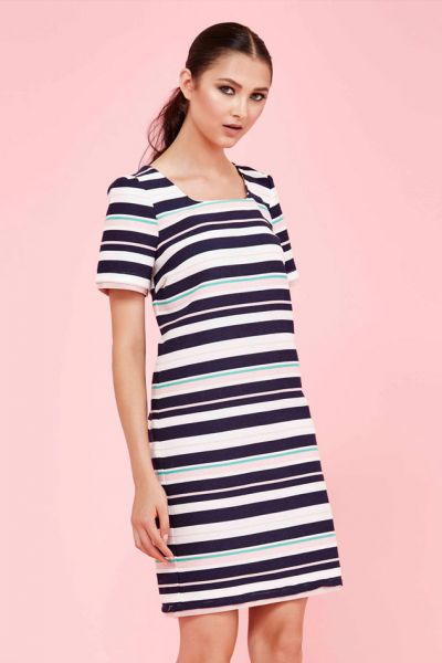 Make You Line Dress By Curate In Stripe