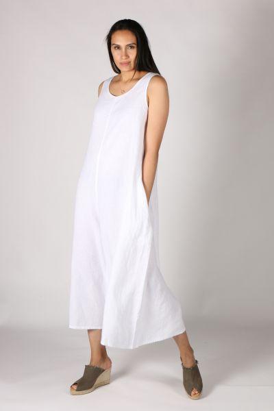 Haris Cotton Jumpsuit In White